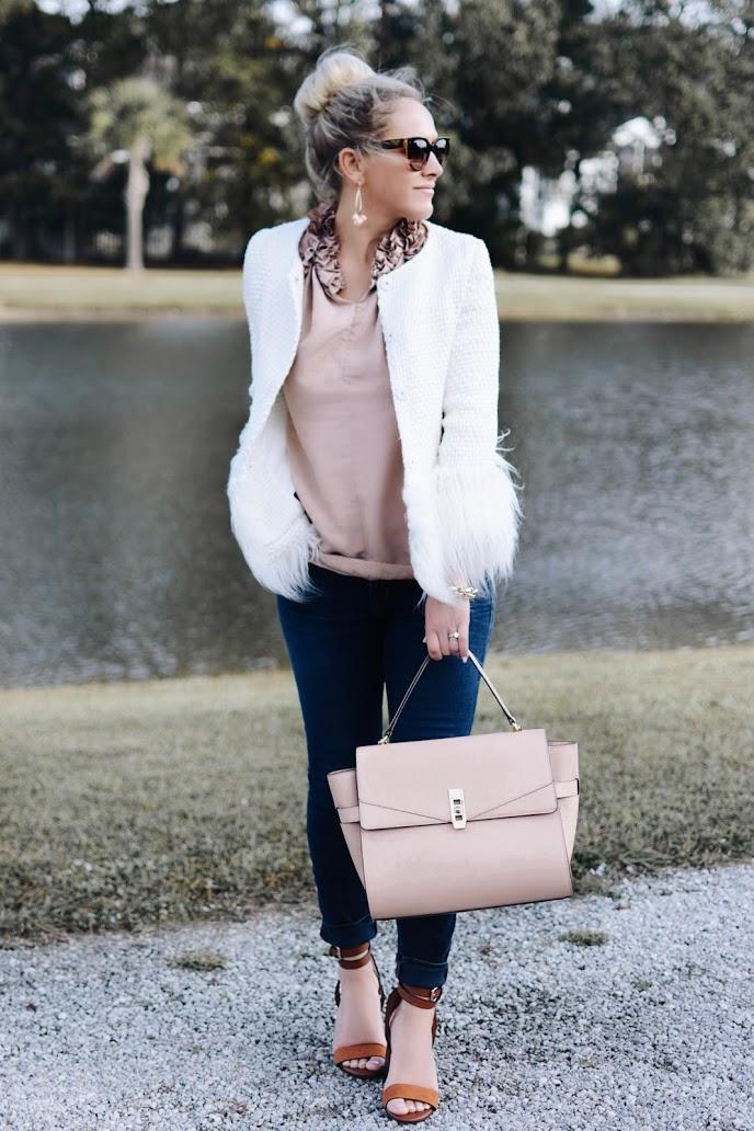 This Seasons Must Have Winter White Blazer | BreeAtLast.com | Winter Fashion