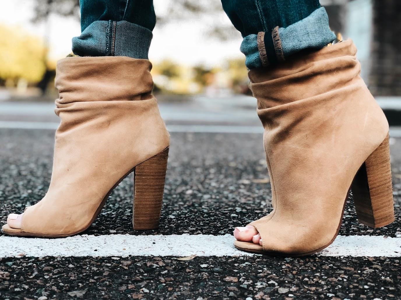 laurel peep toe booties; favorite fall transition staple
