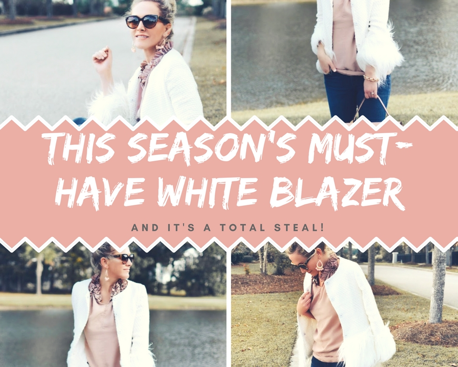 This Seasons Must Have Winter White Blazer