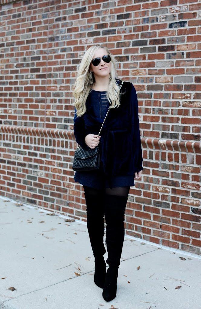 Velvet Crush: New Blue Wrap Blazer