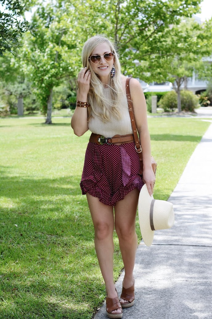 Ruffle Trim Shorts // Summer Style // BreeAtLast.com