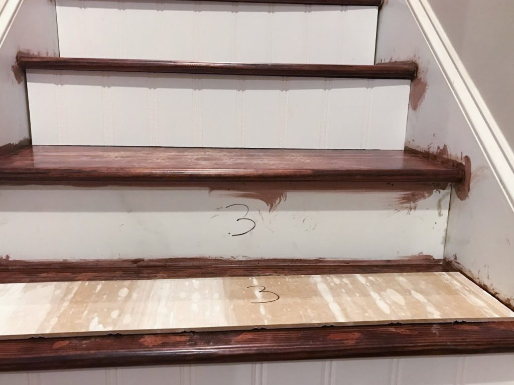 DIY Stair Makeover// Get Rid of that Old Carpet // BreeAtLast.com