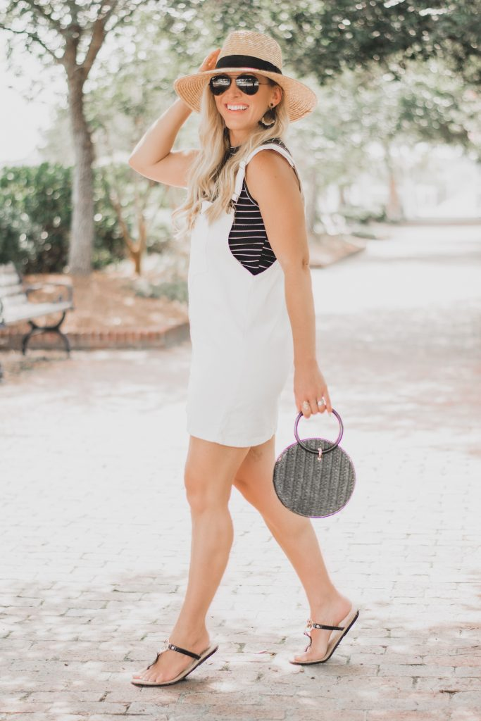 Summer Style | Cutest White Mini Dress Overalls