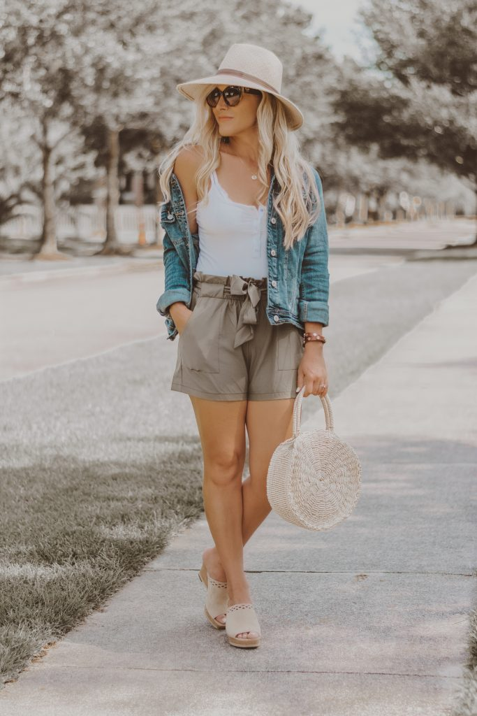 Fashion Forward Elastic-Waisted Shorts? Ummm....YES PLEASE!! // Top 5 Reasons Why I'm Loving The Paper Bag Waist Trend // BreeAtLast.com