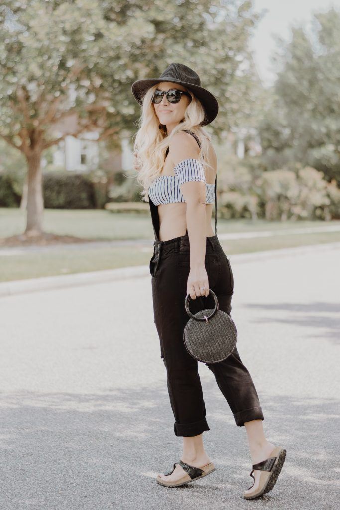 Affordable Fashion Finds | Black Denim Overalls | BreeAtLast.com