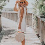Summer Style Inspo | White Bib Ruffle Trim Romper