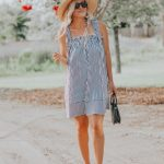 Because You Can Never Go Wrong Wearing Black and White   Budget Friendly Striped Summer Dress