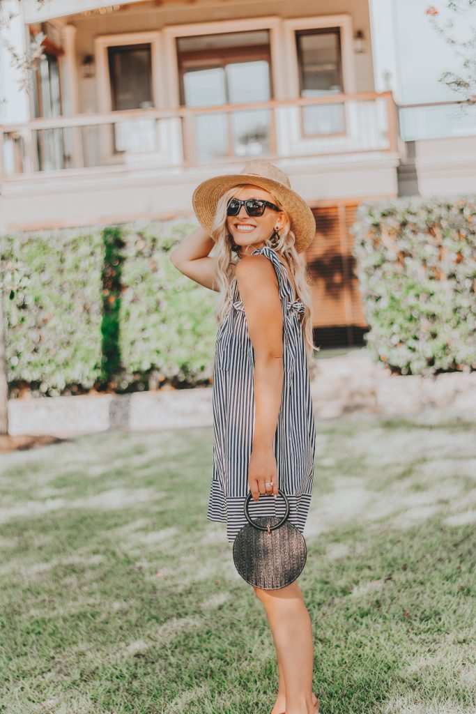 Because You Can Never Go Wrong Wearing Black and White | Budget Friendly Striped Summer Dress