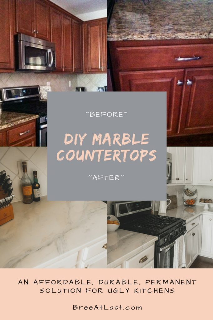 Diy Marble Countertops Cover Old Granite Or Laminate Counters Breeatlast Com