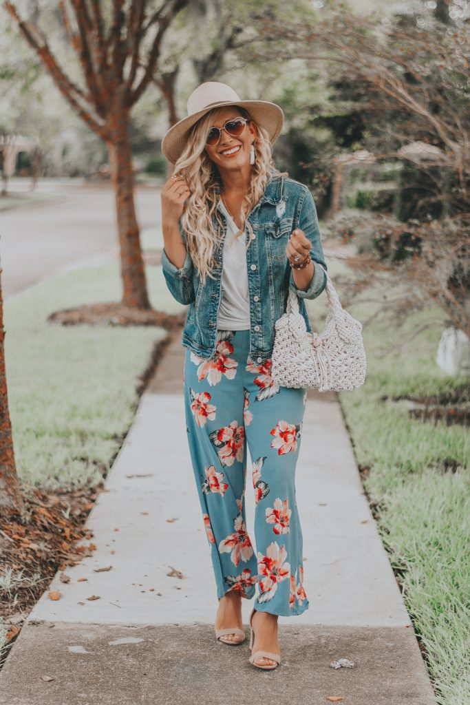 Floral Print Palazzo Pants | The Perfect Travel Outfit for Your Next Tropical Getaway | Summer Vacay Style | BreeAtLast.com