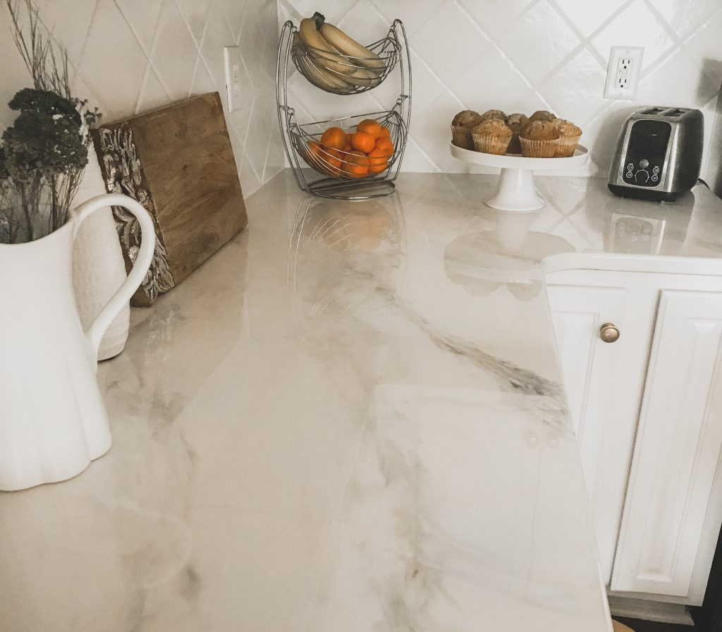 DIY Marble Countertops | Cover Old Granite or Laminate Counters | BreeAtLast.com