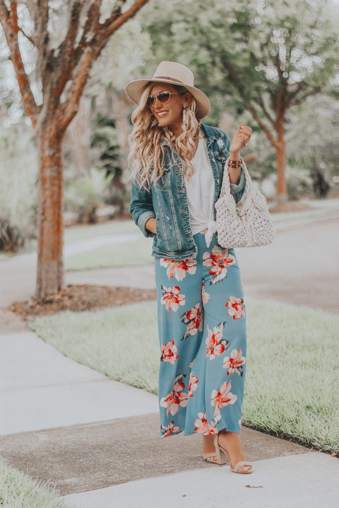 Floral Print Palazzo Pants | The Perfect Travel Outfit for Your Next Tropical Getaway
