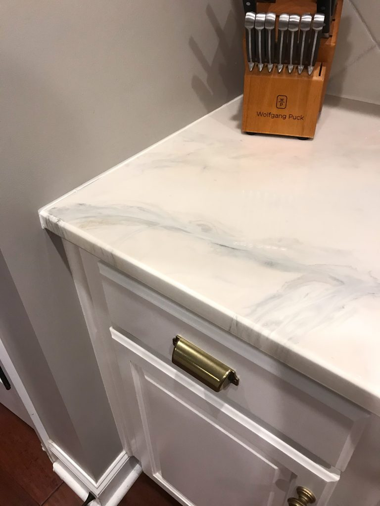 DIY Marble Countertops | Permanently Cover Old Granite or Laminate Counters | BreeAtLast.com