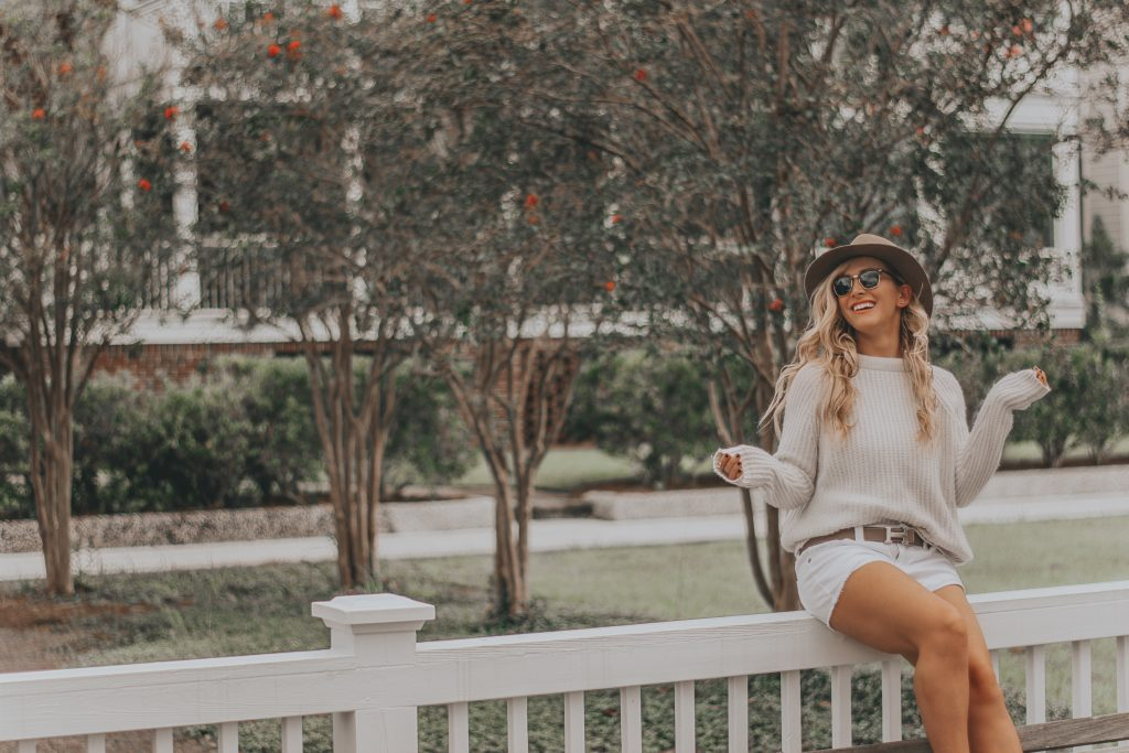 Shorts and Sweaters Season | My Favorite Transitional Look with Janessa Leone and Burberry Gauden Slip-ons| BreeAtLast.com