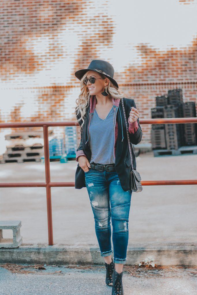 Ivy Rowe Boutique Mount Pleasant | Favorite Moto Jeans | BreeAtLast.com