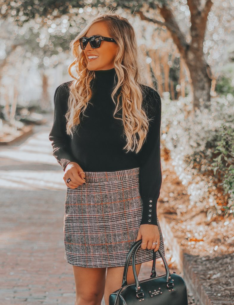 Favorite Fall Staple | The Plaid Mini Skirt + How I Dropped 10 Pounds without Starving Myself | BreeAtLast.com