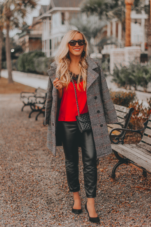 Budget Friendly Plaid Coat + Bree's NYE Fashion Picks | BreeAtLast.com