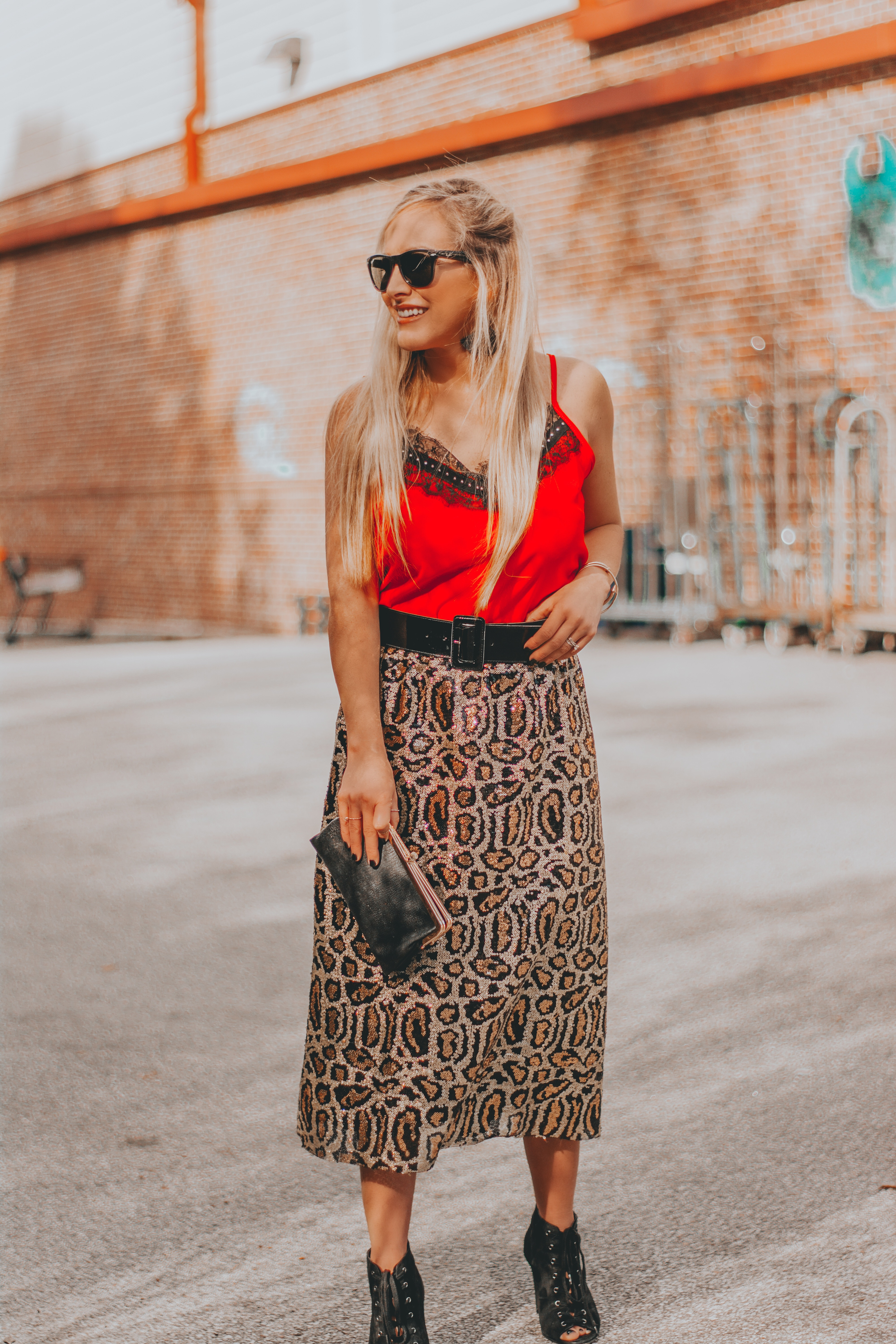 $25 Leopard Sequin Skirt + Budget Friendly Valentine's Outfit Inspo | BreeAtLast.com