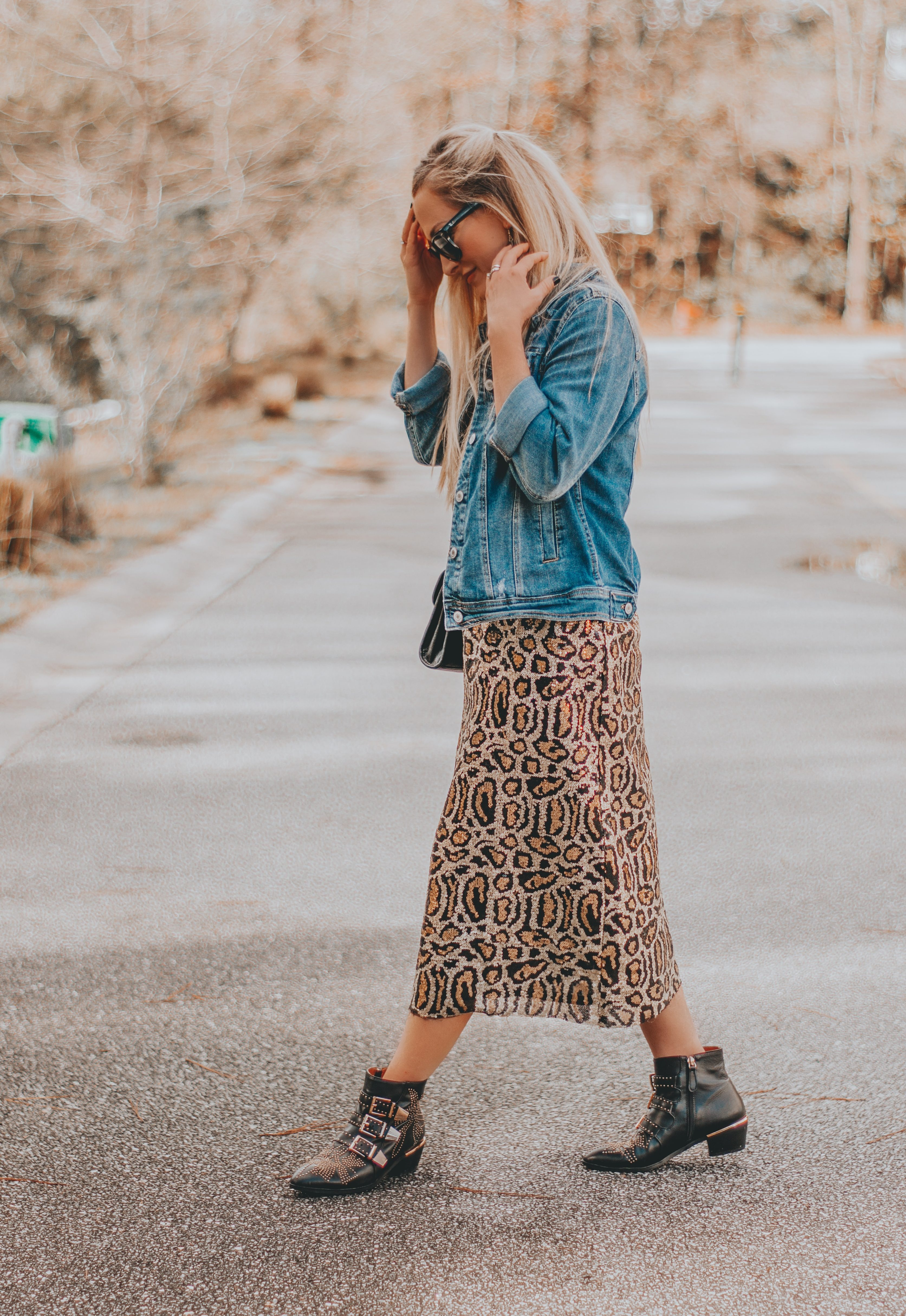 Leopard Sequin Skirt Budget Valentine S Outfit Inspo