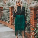 Fun Green Fringe Skirt | The Perfect Holiday Party Look