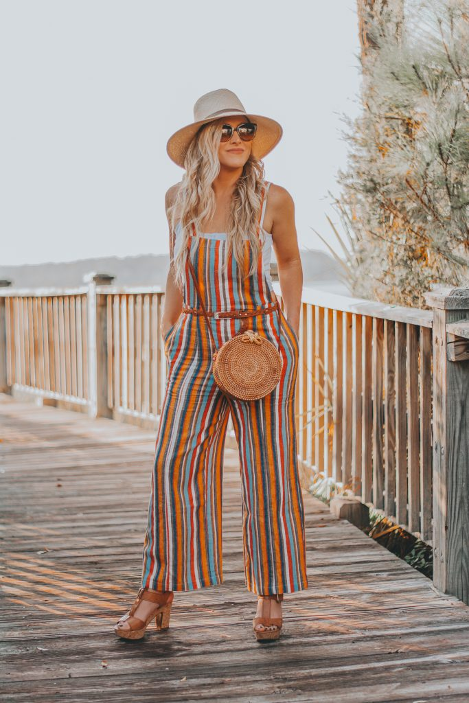 A Case of Spring Fever with The Perfect Striped Linen Jumpsuit