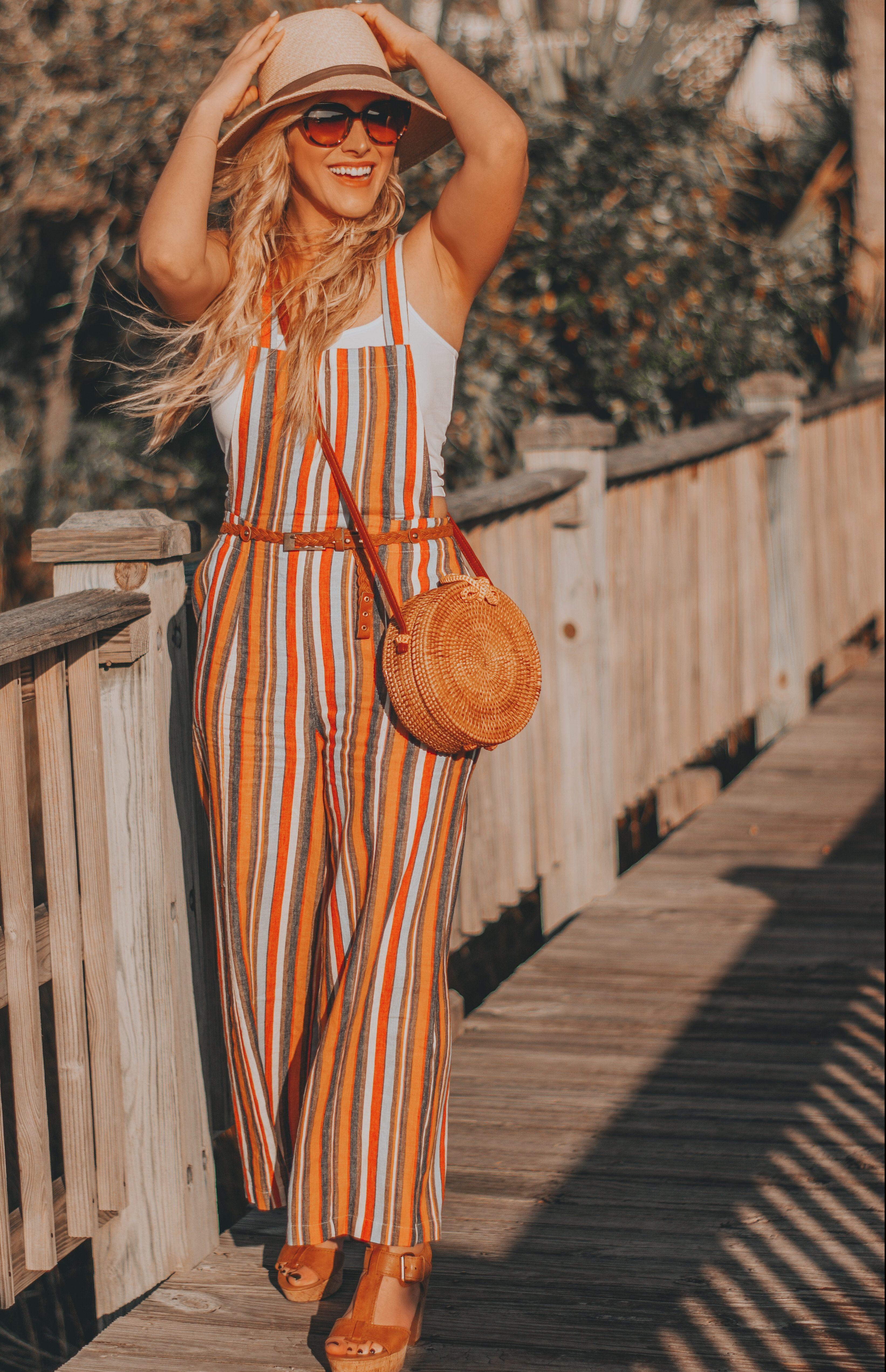 d50d9bd108 Striped Jumpsuit Outfit Ideas