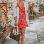 Red and White Floral Romper + Festive Summer Holiday Wear Round Up