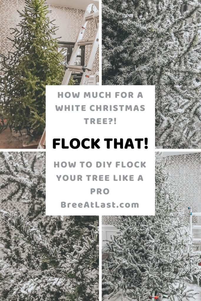 How Much for a White Christmas Tree?!  Flock That! | How to DIY Flock Your Tree Like a Pro