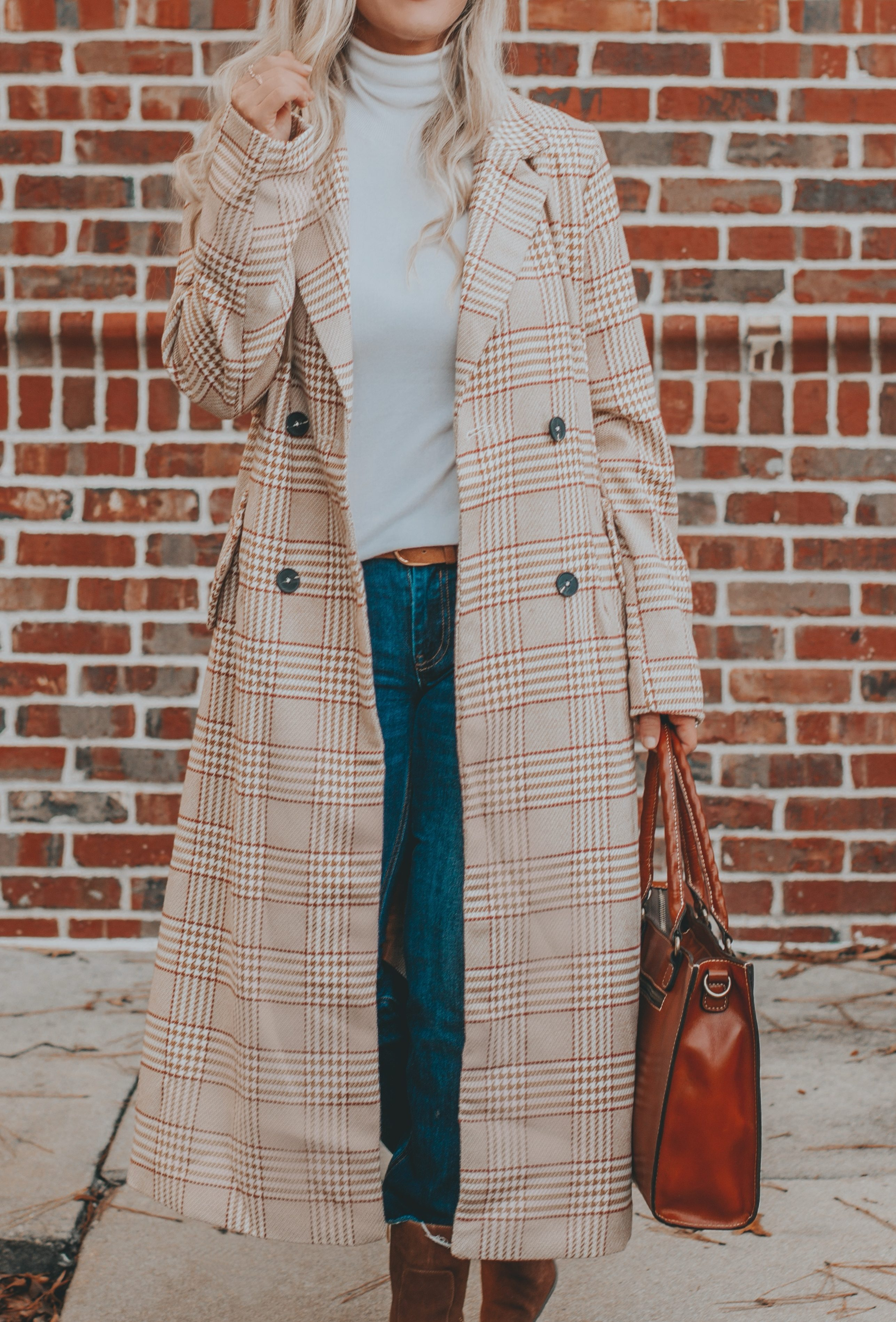 High Quality on a Low Budget | My $51 Plaid Longline Coat Find | BreeAtLast.com