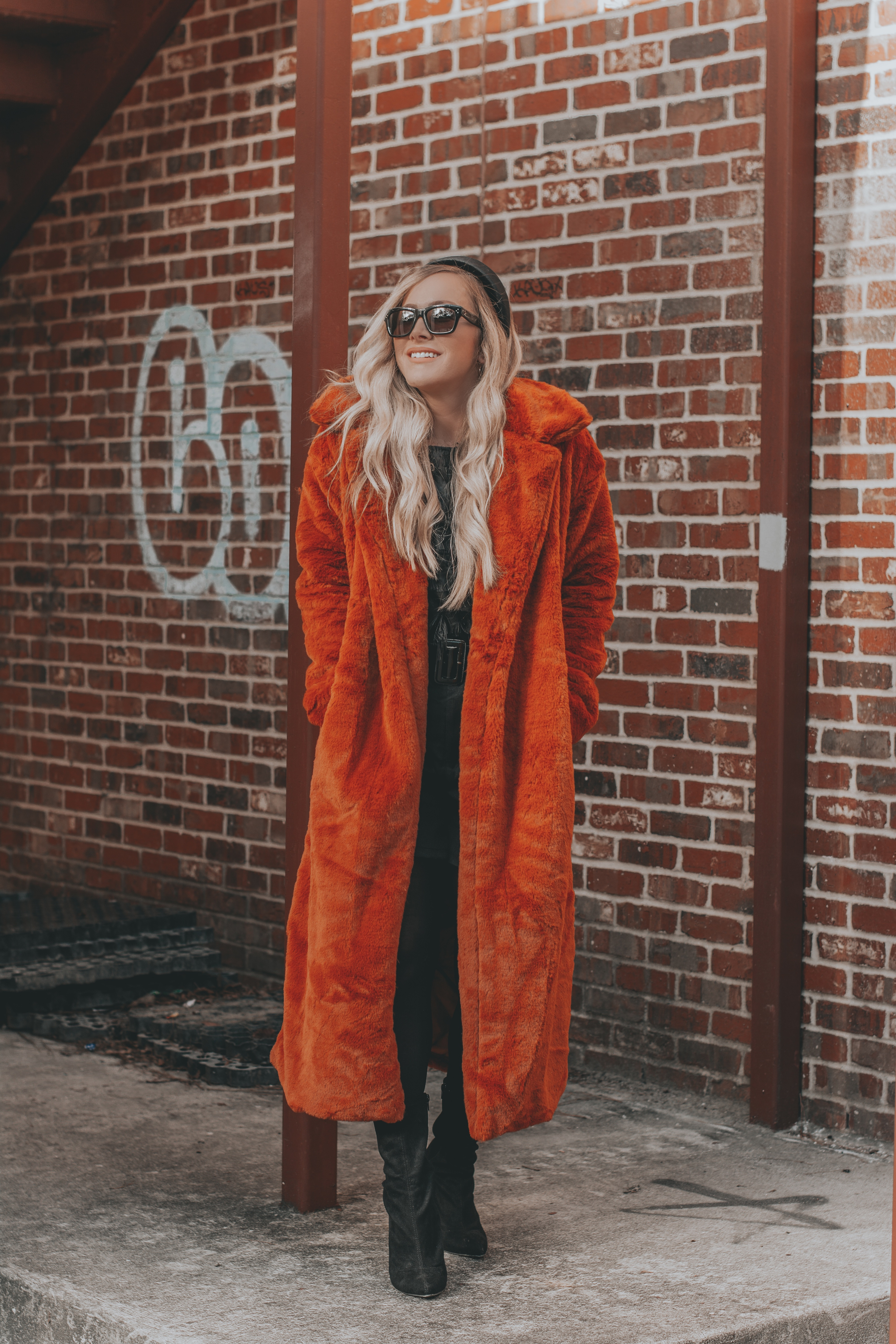 Budget Friendly Faux Fur Duster | The Perfect Coat for Days We're Feeling 'Extra' | BreeAtLast.com