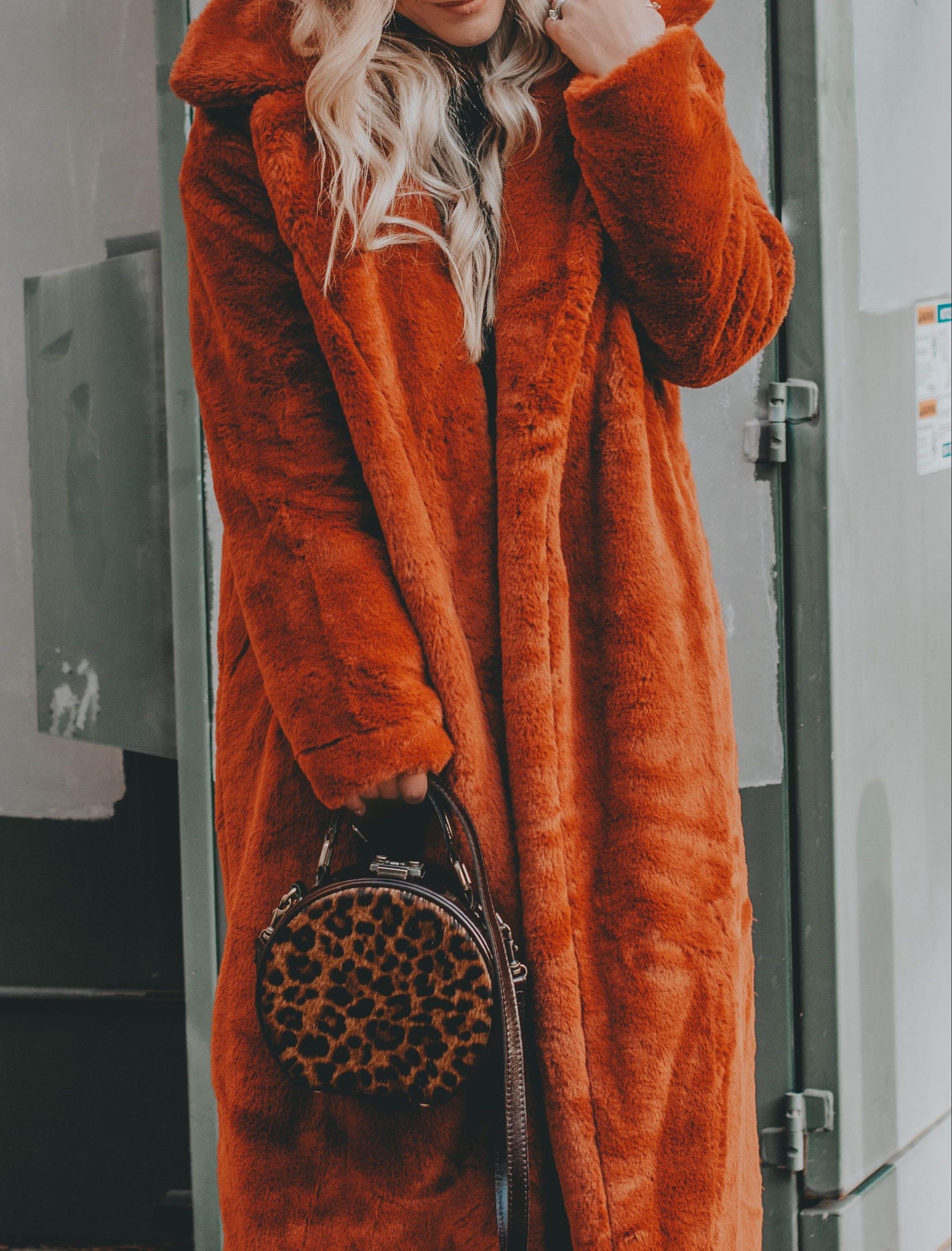 Affordable Faux Fur Longline Coat