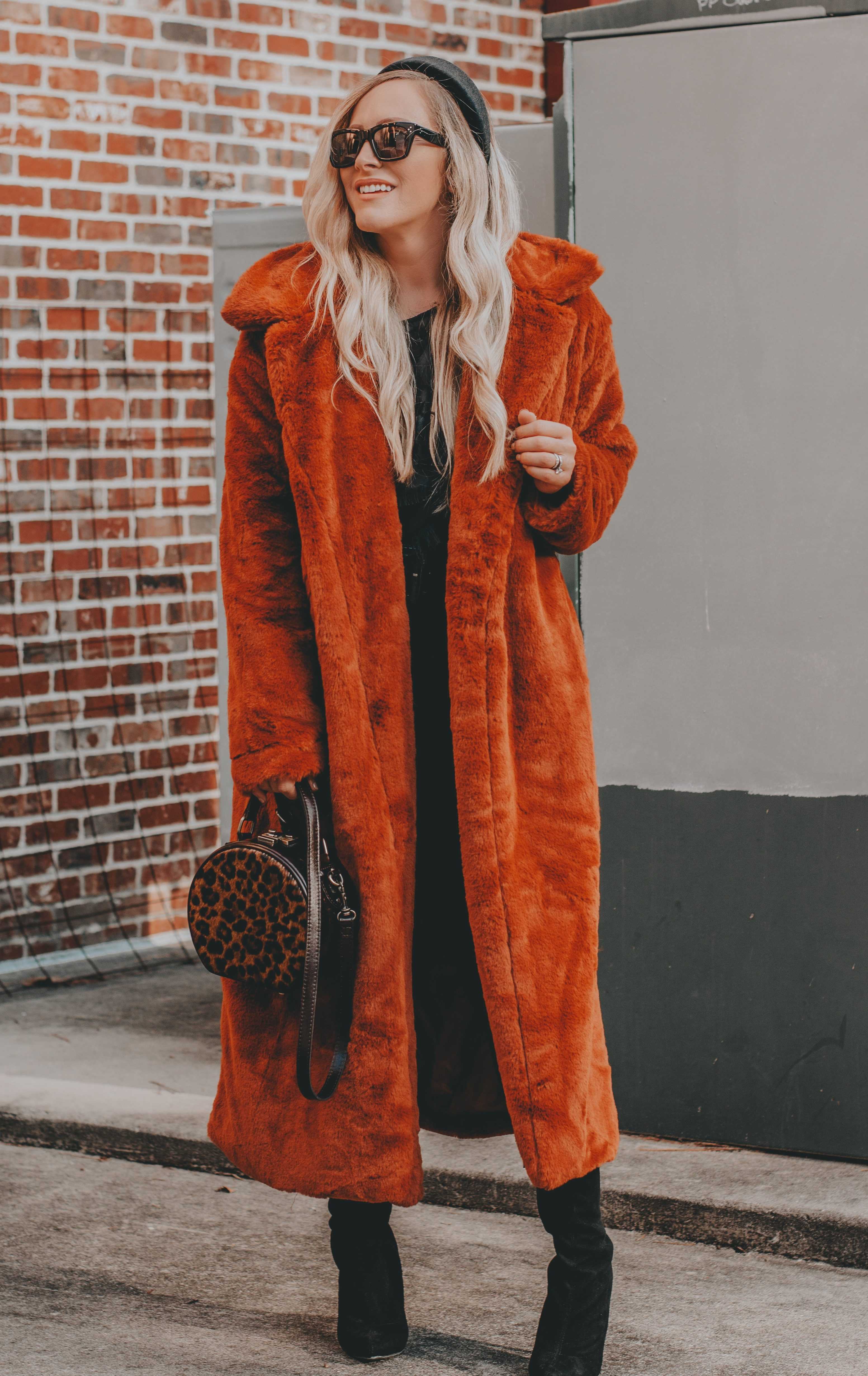 Budget Friendly Faux Fur Duster   The Perfect Coat for Days We're Feeling 'Extra'   BreeAtLast.com