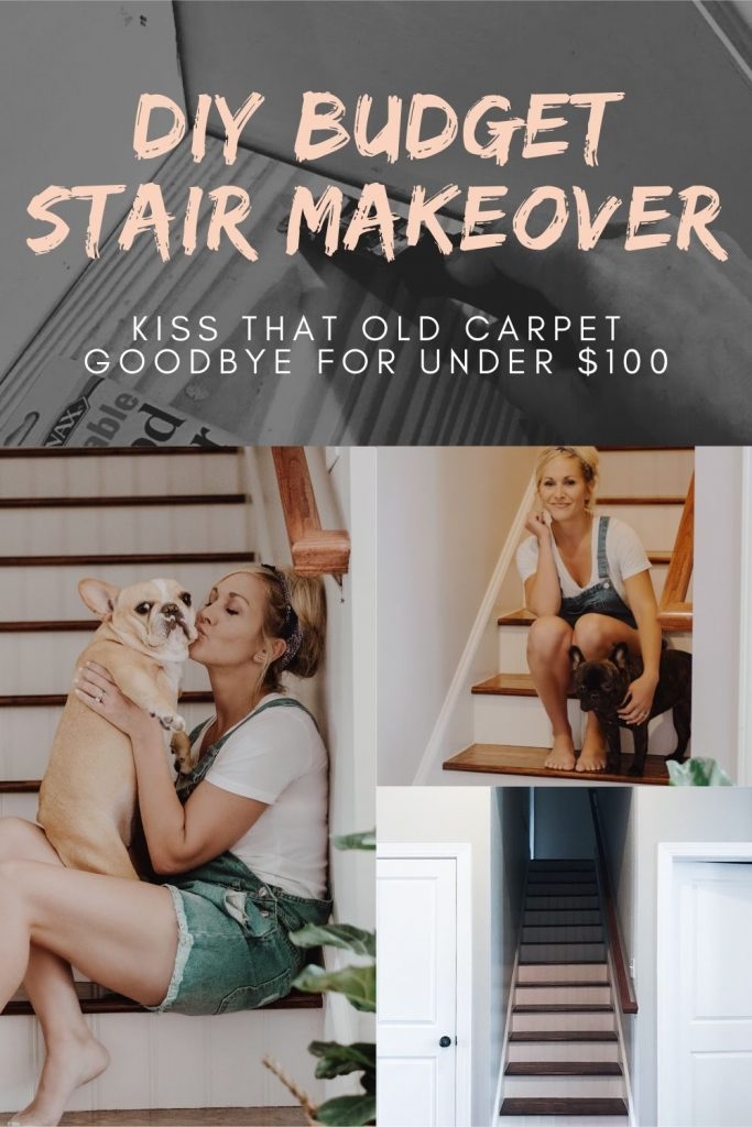 DIY Budget Stair Makeover
