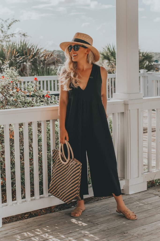 Bree's Budget Finds | Cute & Comfy Black Jumpsuit | BreeAtLast.com
