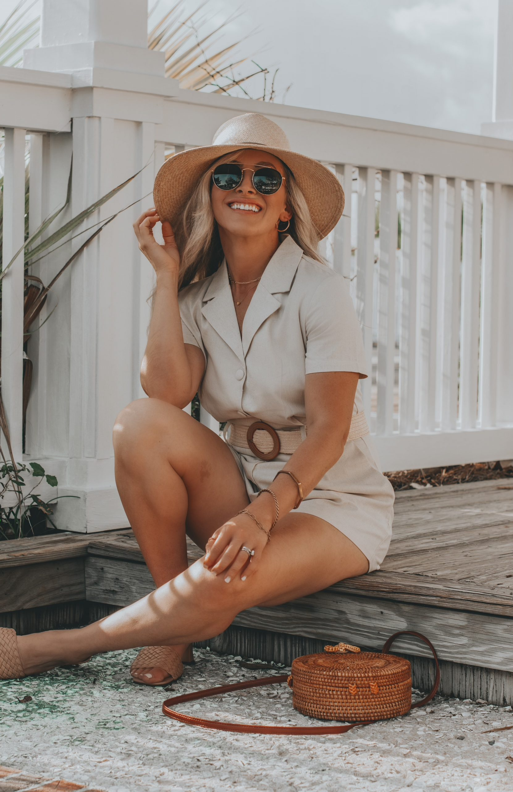 Linen Romper for Vacation